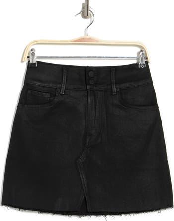 Джинсовая мини-юбка Evie с покрытием GRLFRND