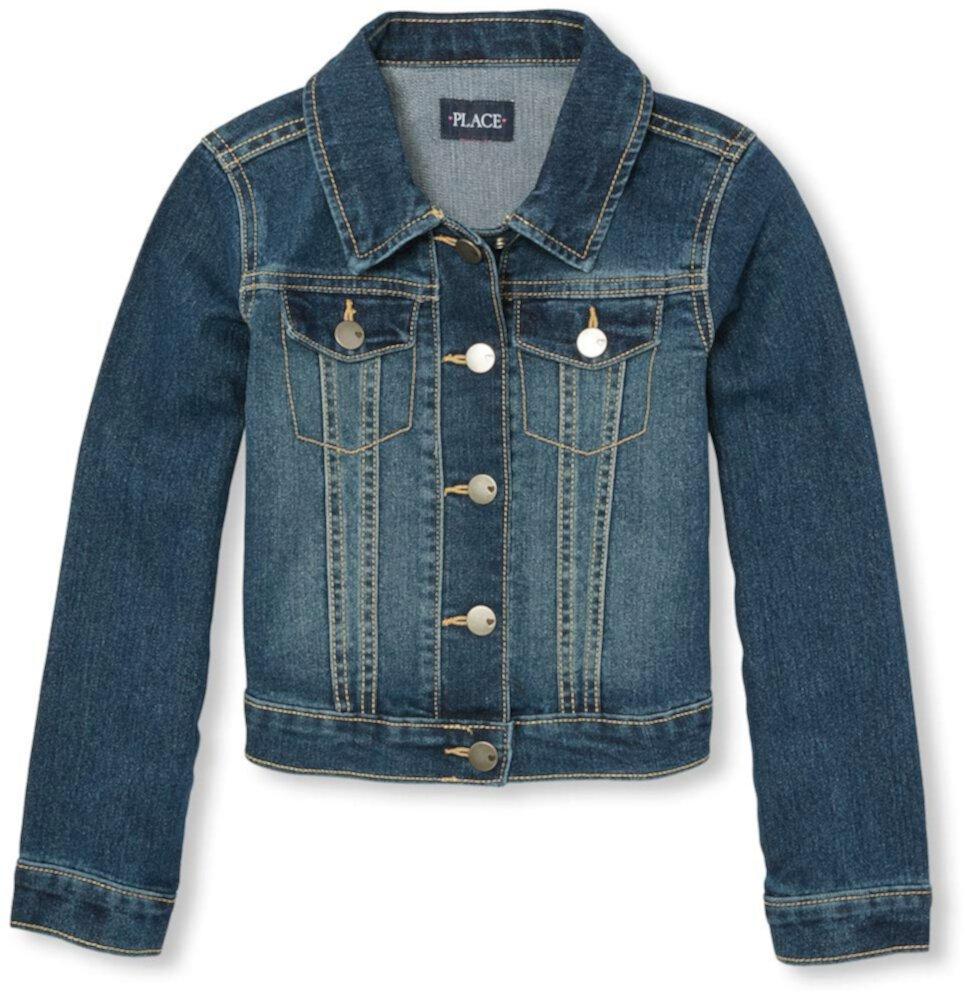 Джинсовая куртка (для маленьких / больших детей) The Children's Place