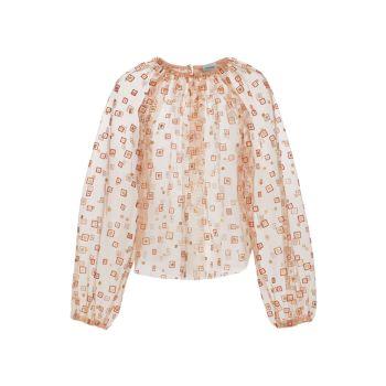 Блузка с прозрачным воротником Rachel Comey