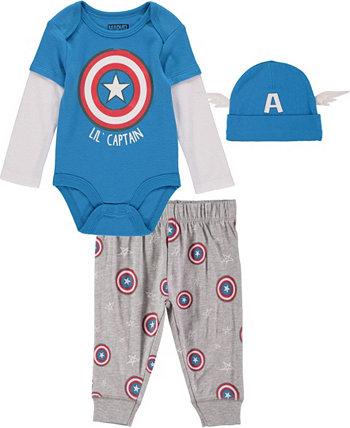 Комплект боди и брюк Marvel для маленьких мальчиков HAPPY THREADS