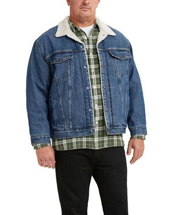 Мужская куртка-дальнобойщик Big & Tall из шерпы Levi's®