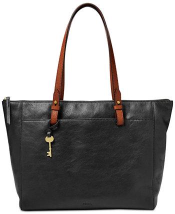 Кожаная сумка с короткими ручками Rachel на молнии Fossil