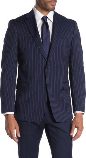 Приталенный пиджак из смесовой шерсти в тонкую полоску Tommy Hilfiger
