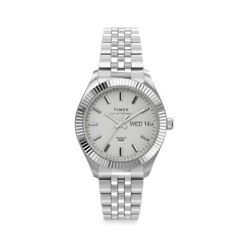 Waterbury Legacy Boyfriend Stainless Steel Bracelet Watch Timex