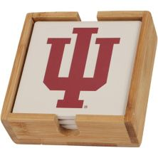 Indiana Hoosiers Four-Pack Team Logo Square Coaster Set Unbranded