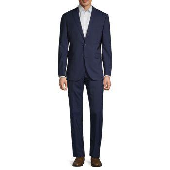 Полосатый шерстяной костюм Saks Fifth Avenue