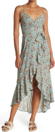 Платье Surplice с цветочными оборками и запахом KENEDIK