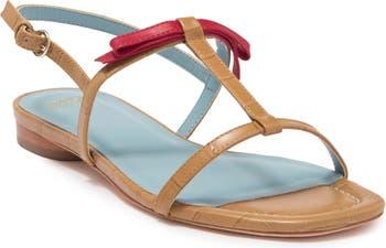 Lily Croc Embossed Sandal Frances Valentine