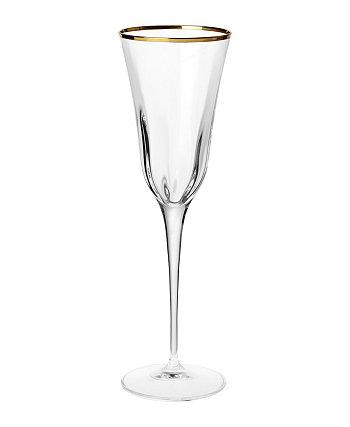 Оптическая золотая флейта для шампанского VIETRI