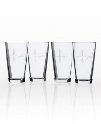 Стакан для пинты для ловли рыбы нахлыстом 16 унций - набор из 4 стаканов Rolf Glass