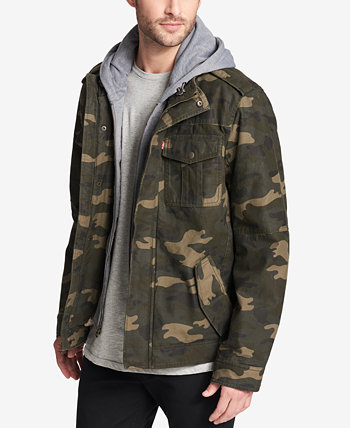 Мужская куртка Trucker с капюшоном и двумя карманами на подкладке из шерпы Levi's®