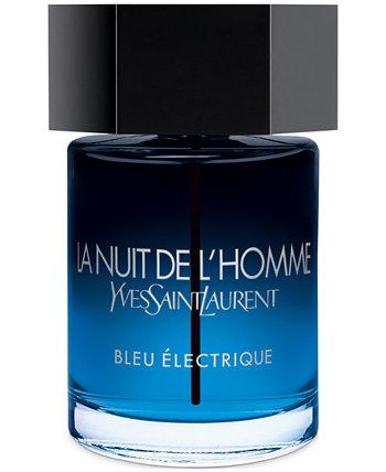 Туалетная вода-спрей La Nuit de L'Homme Bleu Électrique для мужчин, 2 унции. Yves Saint Laurent