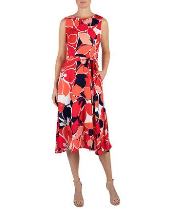 Платье Fit & Flare с принтом Donna Ricco