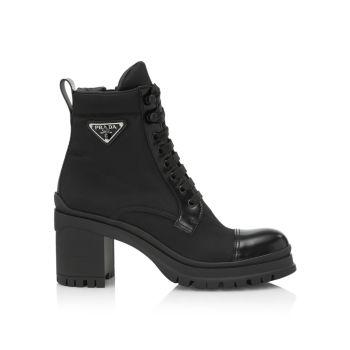 Толстые ботинки из переработанного нейлона Prada