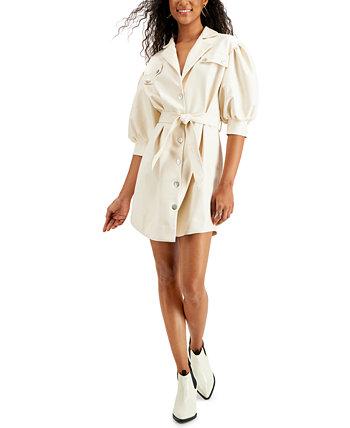 Платье-рубашка Alex из искусственной кожи LeRumi