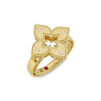 Кольцо Venetian Princess из желтого золота 18 карат с бриллиантом Roberto Coin