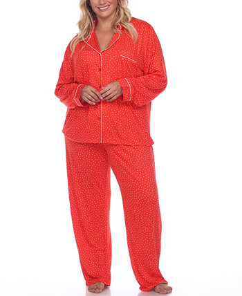 Женский пижамный комплект больших размеров, 2 предмета White Mark
