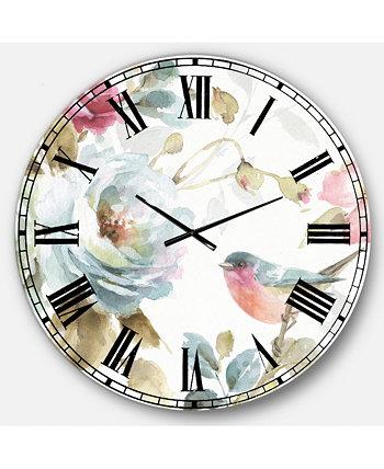 Традиционные большие металлические настенные часы Designart
