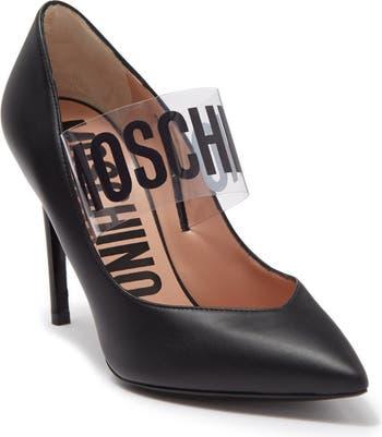 Кожаные туфли с острым носком Moschino