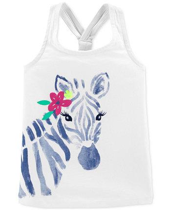 Майка для новорожденных девочек Zebra Racerback Carter's