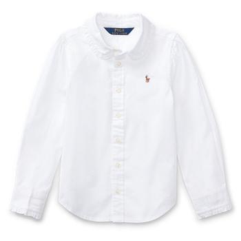Ruffled Cotton Oxford Shirt Ralph Lauren
