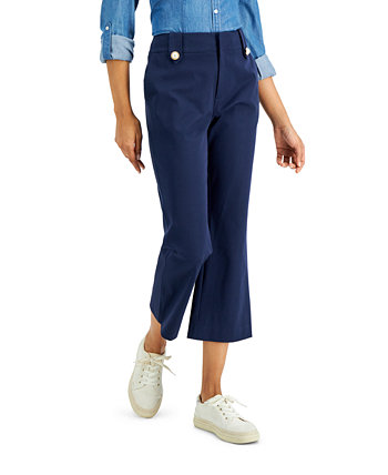 Petite Kick-Flare Ankle-Length Pants, Created for Macy's Charter Club