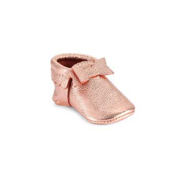 Девочки - Для малышей - Мокк с бантом из розового золота для малышей - Мини-подошва Freshly Picked