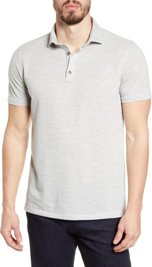 Жаккардовая рубашка-поло Performance Stone Rose