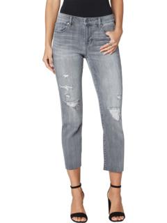 Укороченные прямые джинсы с необработанным краем Falls Lake Liverpool