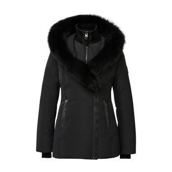 Пуховое пальто Adali Silver с отделкой лисой Mackage