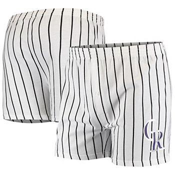 Men's Concepts Sport White Colorado Rockies Vigor Boxer Shorts Unbranded