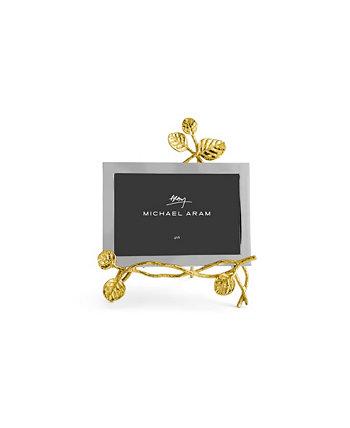 Золотая рамка для мольберта с ботаническим листом MICHAEL ARAM