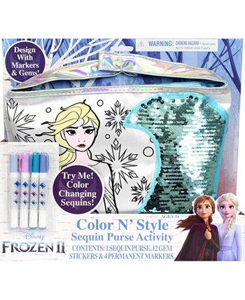 Кошелек в стиле Color N с наклейками с драгоценными камнями и перманентными маркерами Frozen