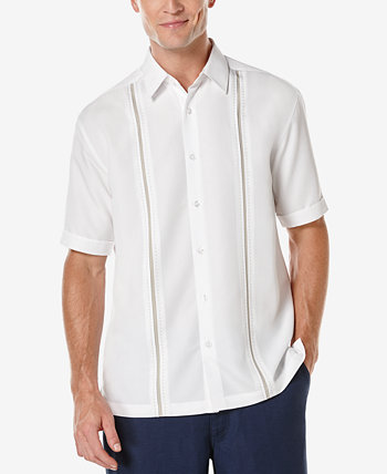 Мужская рубашка с коротким рукавом с контрастной строчкой Cubavera