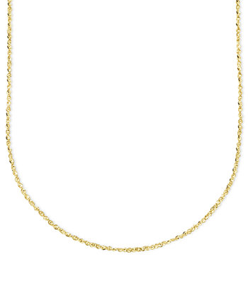 Колье из 14-каратного золота, колье-цепочка Perfectina 16 дюймов (1-1 / 8 мм) Italian Gold