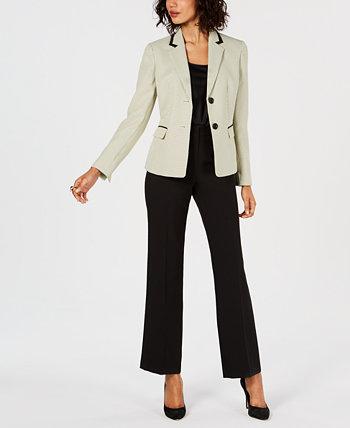 Брючный костюм с точечным принтом на двух пуговицах Le Suit