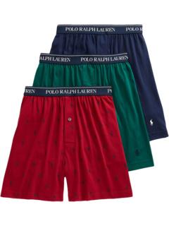 Classic Fit с Wicking 3-Pack трикотажные боксеры Ralph Lauren
