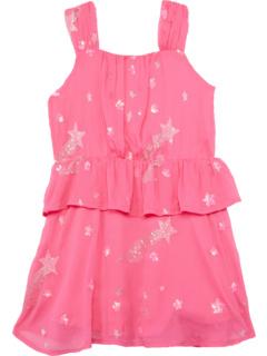 Платье Shooting Stars с оборками на талии (Малыши / Маленькие дети / Дети старшего возраста) Hatley Kids