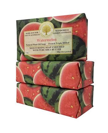 Арбузное мыло с пакетом из 3, каждый 7 унций Wavertree & London