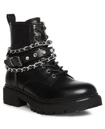 Боевые ботинки на шнуровке для маленьких девочек Steve Madden
