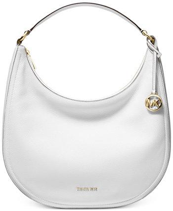 Большая кожаная сумка-хобо Lydia Michael Kors