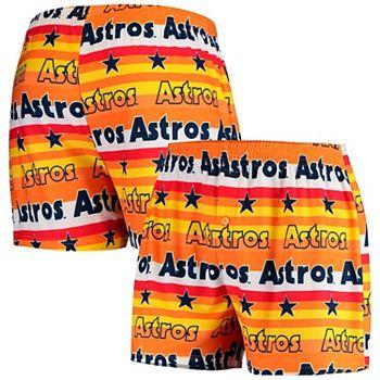Men's Concepts Sport Orange Houston Astros Fairway All Over Print Knit Boxers Unbranded
