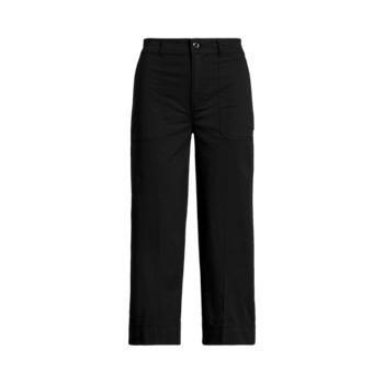 Cotton Twill Wide-Leg Pant Ralph Lauren
