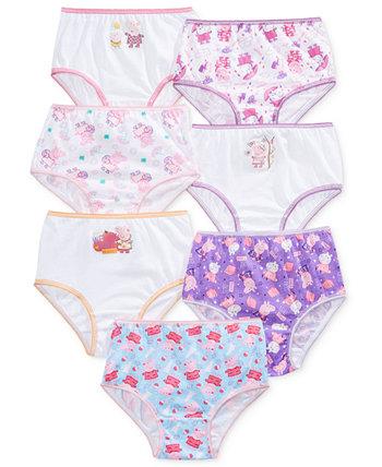 Нижнее белье Свинка Пеппа Nickelodeon®, 7 предметов, девочки для малышей Disney