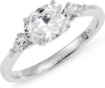 Кольцо Evie с овальным камнем NADRI