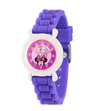 Дисней Минни Маус для девочек с фиолетовым пластиковым ремешком для часов Часы 32мм Ewatchfactory