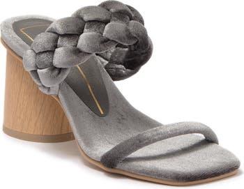 Плетеные босоножки на каблуке с двумя ремешками City Block DV Footwear