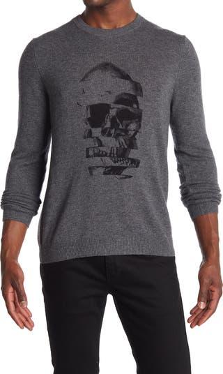 Кашемировый свитер с принтом черепа Autumn Cashmere