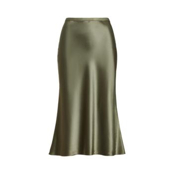 Атласная юбка-миди Ralph Lauren