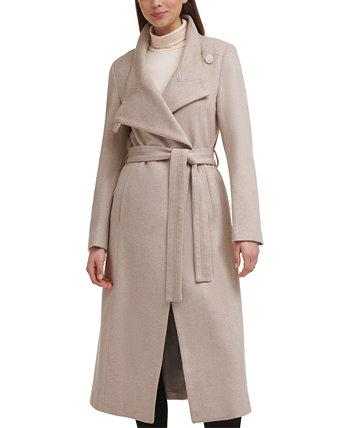 Пальто макси с асимметричным поясом Kenneth Cole